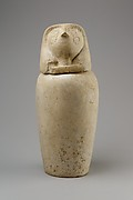Canopic jar with falcon head (Qebehsenuef)