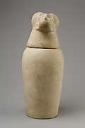 Canopic jar with head of baboon (Hapy)