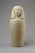 Canopic jar with human head (Imsety)