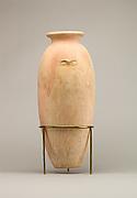 Large wavy-handled jar
