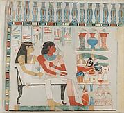 Djehuty and his Mother Receiving Offerings, Tomb of Djehuty