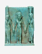 Amulet depicting Nephthys, Horus, and Isis