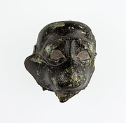 Head of a monkey from an ointment vessel