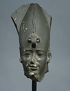 Head of Osiris wearing Atef Crown