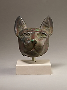 Head from statue of a cat