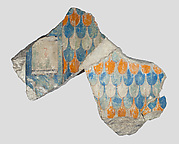 Relief fragment with feather pattern from the depiction of a throne