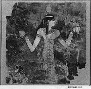 Fragment of a linen shroud painting