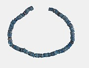 Necklace of blue faience disks