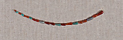 String of carnelian, beryl and steatite drop beads