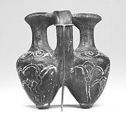 "Double ""Tell el-Yahudiya"" Vase with Incised Lotus Flowers, probably manufactured in Egypt"