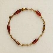 Bracelet of knots and barrel beads