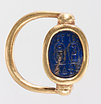 Scarab Finger Ring with the Names of Thutmose III and Hatshepsut
