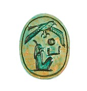 Scarab Inscribed with the Name Maatkare (Hatshepsut) with a Falcon Above