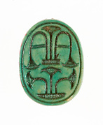 Scarab inscribed with Plant Motifs