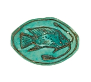 Cowroid Seal Amulet Inscribed with a Bolti Fish