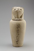 Falcon-headed stopper (Qebehsenuef) from a canopic jar