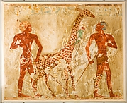 Nubians with a Giraffe and a Monkey, Tomb of Rekhmire