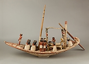 Model Sailing Boat with Mummy