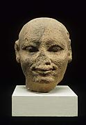 Head of a male statue
