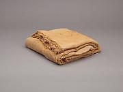 Sheet, inscribed, linen mark, fine spin, irregular weave