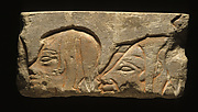 Relief block with the heads of three Libyans