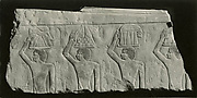 Relief Fragment depicting offering bearers from the mastaba of Idut