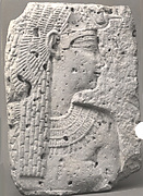 Relief of a queen or goddess