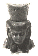 Head of an Amulet Depicting a Goddess