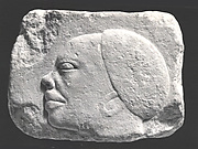 Relief with a head of a Nubian