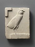 Relief plaque with quail chick