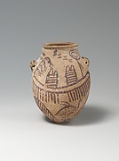 Jar Decorated with Boats