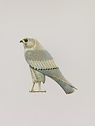 Inlay depicting a falcon