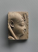 Plaque with relief bust of Harpokrates or another divine/royal child