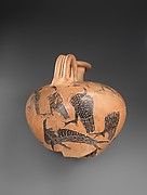 Jug Decorated with Dolphins and Birds