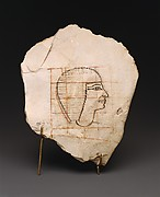 Artist's Gridded Sketch of Senenmut