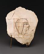 Artist's Gridded Sketch of Senenmut
