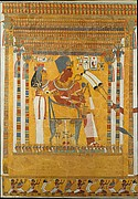 Amenhotep III and his Mother, Mutemwia in a Kiosk, Theban Tomb TT 226
