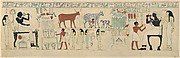 Facsimile of the painting on the inner back side of the sarcophagus of Aashyt