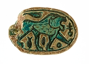 Canaanite Scarab with a Roaring Lion