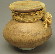 Cosmetic Jar Sealed with Linen