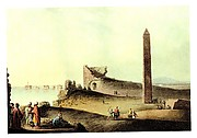 Watercolor of the Alexandrian Obelisk