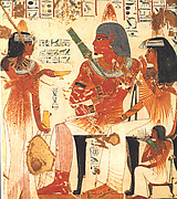 Deceased and His Mother Receive Wine, Tomb of Nebamun and Ipuky