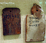 Mummy label of the woman Trempsaeis, age 65