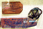 Mummy label of Tsenpetese daughter of Panahib