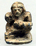 Design Amulet, Back in the Form of a Woman Suckling a Child, Device showing Two Lizards Head-to-tail