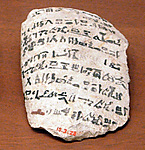 Ostracon with hieratic inscription