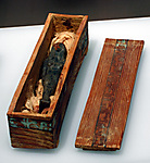 Miniature coffin for funerary figurine of queen Neferu