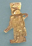 Amulet, sheet gold, god, Khonsu