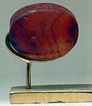 Scaraboid Bead with a device referring to Ptah