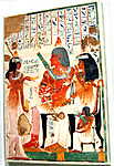 Deceased and His Mother Receive Wine, Tomb of Nebamun